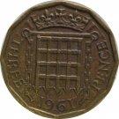 1961 Great Britain 3 Pence