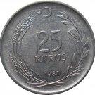 Turkey 1960 25 Kurus