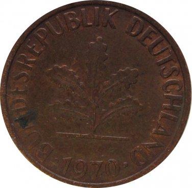 1966 D Germany 1 Pfennig