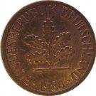 1986 D Germany 1 Pfennig