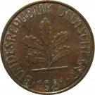 1981 D Germany 10 Pfennig