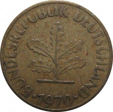 1970 J Germany 10 Pfennig