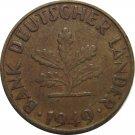 1949 F Germany 10 Pfennig