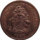 1990 Bahama 1 Cent