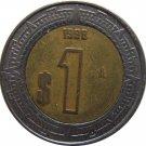 1998 Mexico 1 Peso