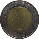 2000 Mexico 1 Peso
