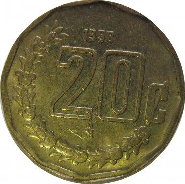 1998 Mexico 20 Centavos