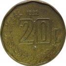 1992 Mexico 20 Centavos