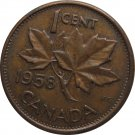 1958 Canadian Cent