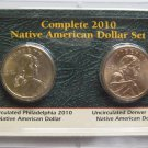 Complete 2010 Native American Dollar Set