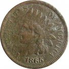 1865 Indian Head Cent Corroded but full LIBERTY