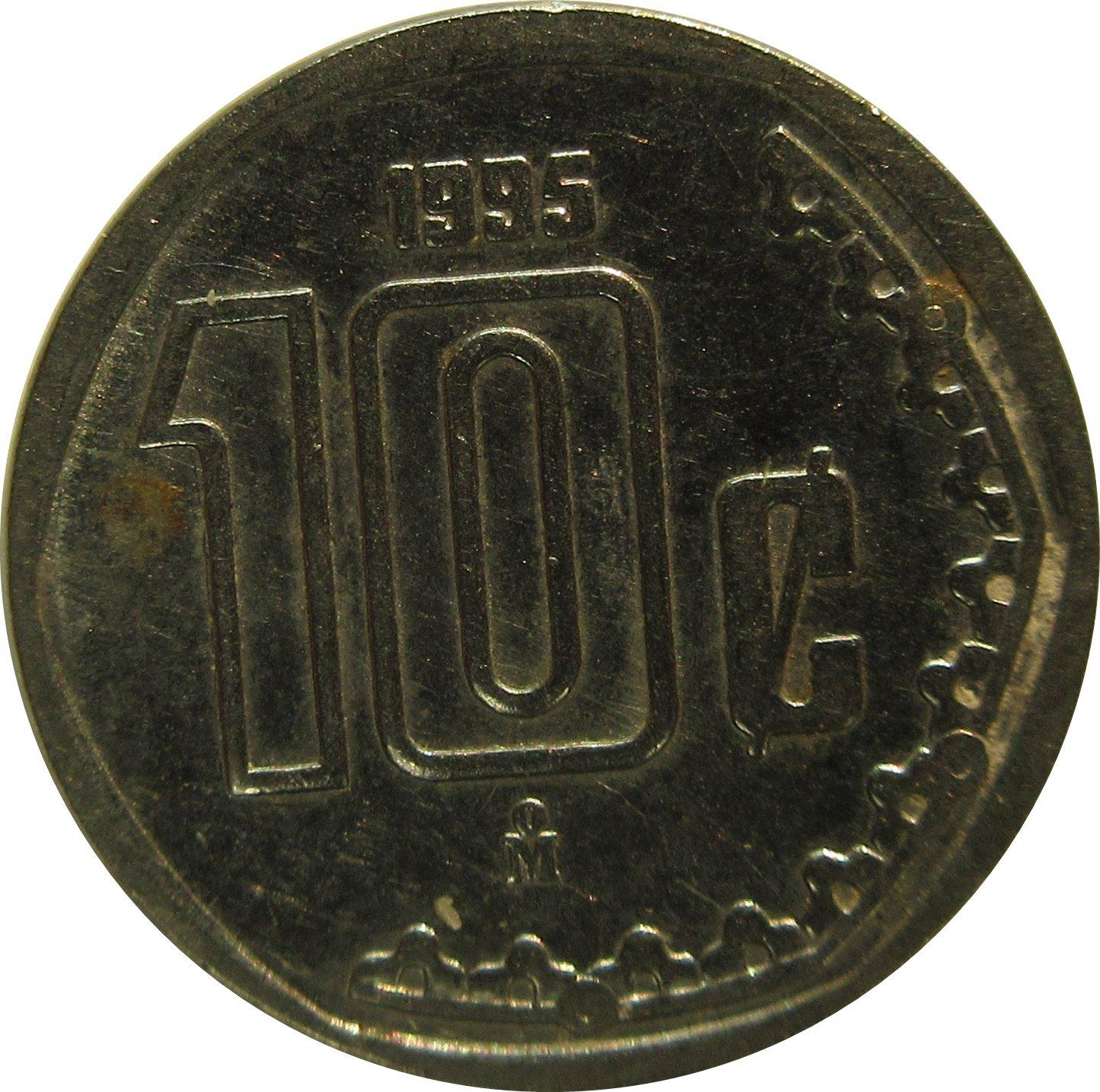 1995 Mexico 10 Centavos
