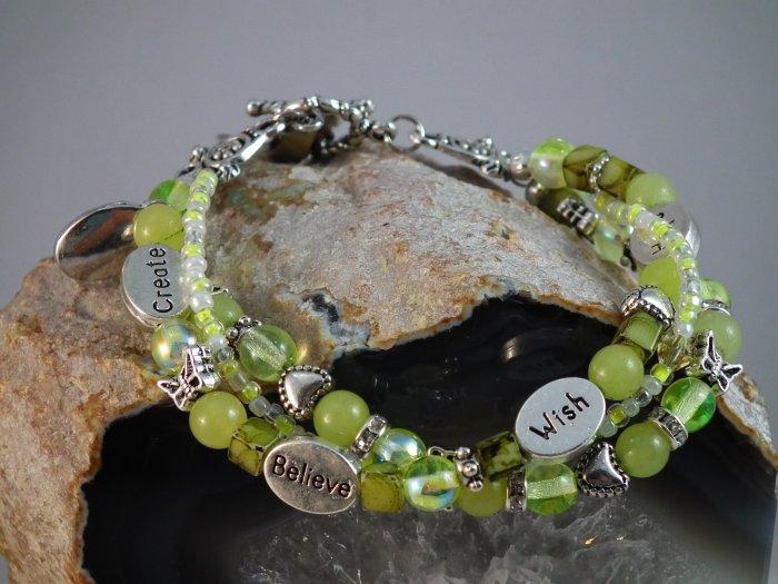 Lemon Jade Triple Bracelet
