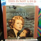 Laserdisc MRS. MINIVER (1942) Walter Pidgeon Classic LD