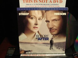 Laserdisc BEFORE AND AFTER 1996 Meryl Streep Lot#1 LTBX LD