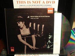 LD Music Video MARIA CALLAS AT COVENT GARDEN 1962 &64 Soprano Opera Laserdisc [72434 77789-1 9]