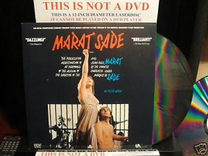 LD Music Video MARAT SADE 1966 Royal Shakespeare Playright Adaptation Laserdisc [LVD8915]