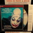 LD Opera Film LEONCAVALLO PAGLIACCI 1982 Franco Zeffirelli Laserdisc Music Video [070 204-1]