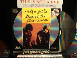 LD Music Video INDIGO GIRLS LIVE AT THE UPTOWN LOUNGE 1990 Amy Ray Laserdisc [ID6970CB]