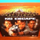 Laserdisc NO ESCAPE 1994 Ray Liotta Lot#1 LTBX LD