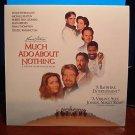 Laserdisc MUCH ADO ABOUT NOTHING 1993 Michael Keaton Lot#1 FS LD