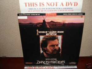 Laserdisc DANCES WITH THE WOLVES 1990 Kevin Costner Lot#3 LTBX LD