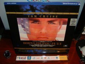 Laserdisc BORN ON THE FOURTH OF JULY 1989 Lot#6 LTBX LD