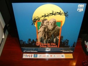 Laserdisc MIRACLE ON 34Tth STREET (1947) Maureen O'Hare Lot#1 FS Classic LD