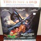 Laserdisc BATMAN FOREVER 1995 Val Kilmer Lot#8 LTBX LD