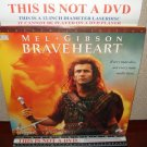 Laserdisc BRAVEHEART 1995 Mel Gibson Lot#5 LTBX THX Movie [LDLV33118-2WS]