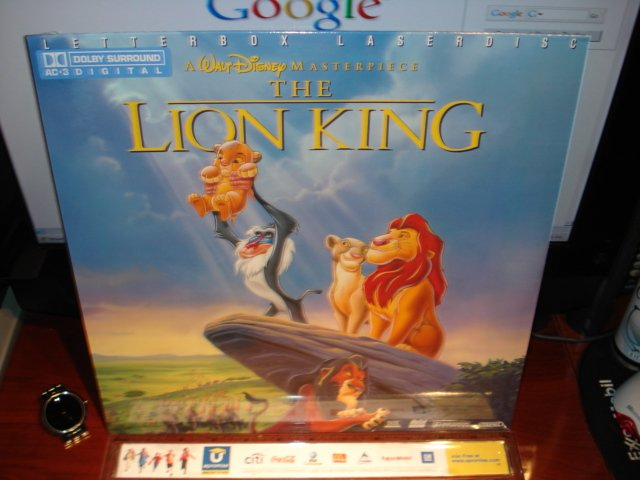 1 only  laserdisc the lion king disney 1994 ltbx thx ac
