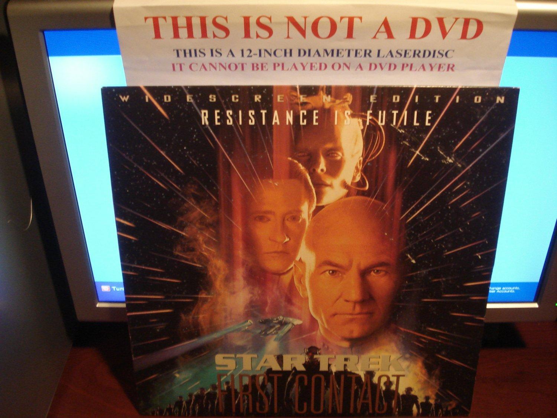 Laserdisc STAR TREK VIII: FIRST CONTACT 1996 Patrick Stewart Lot#9 LTBX THX LD