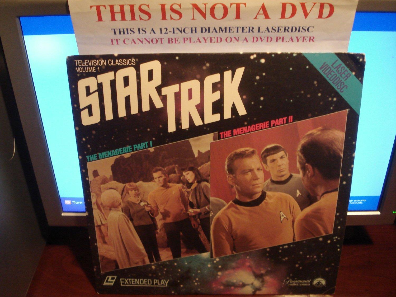 Laserdisc STAR TREK 1966/67 TOS Television Classics Vol. 1 The Menagerie Part I & Part II LD