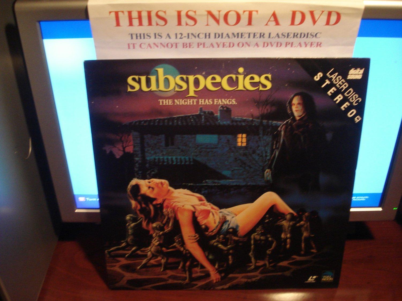 Laserdisc SUBSPECIES: THE NIGHT HAS FANGS 1991 Full Moon Entertainment FS Rare Horror LD