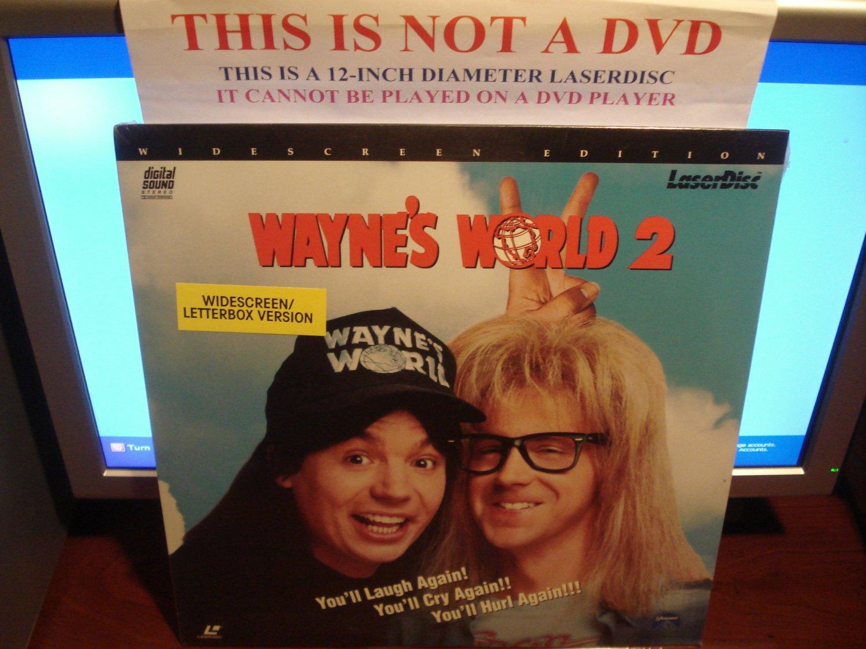 Laserdisc WAYNE'S WORLD 2 1993 Mike Myers Lot#3 LTBX SEALED UNOPENED LD