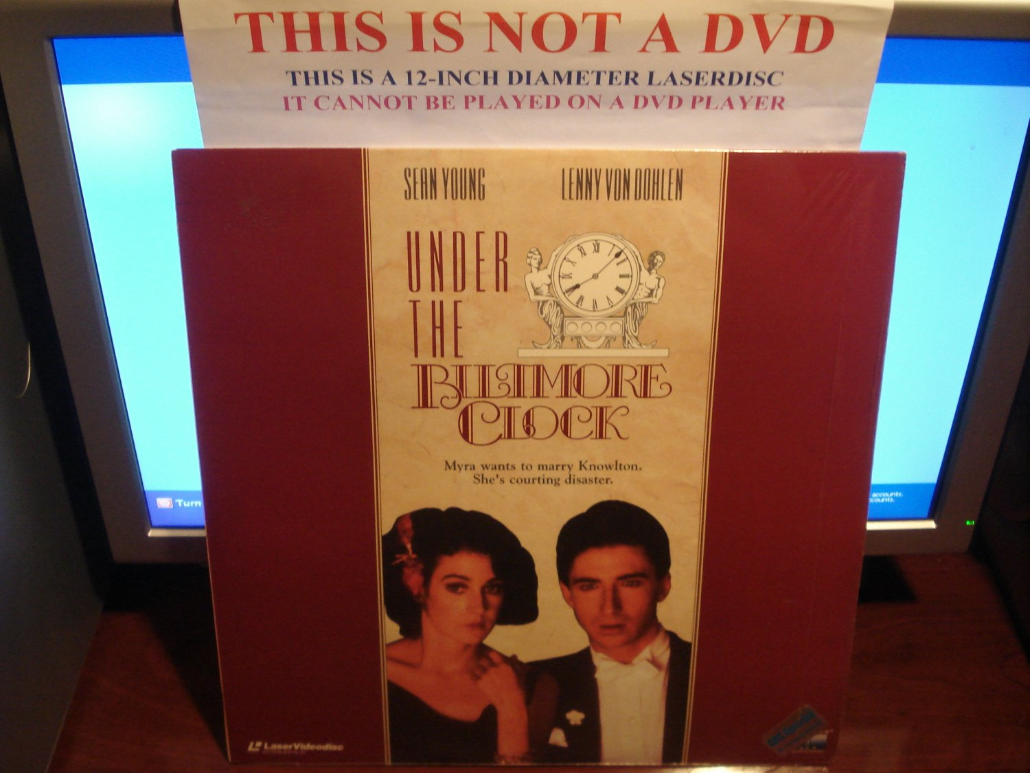 Laserdisc UNDER THE BILTMORE CLOCK 1985 Sean Young FS LD