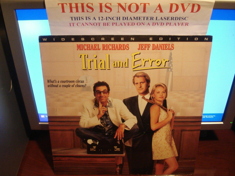 Laserdisc TRIAL AND ERROR 1997 Michael Richards Lot#2 LTBX SEALED UNOPENED LD