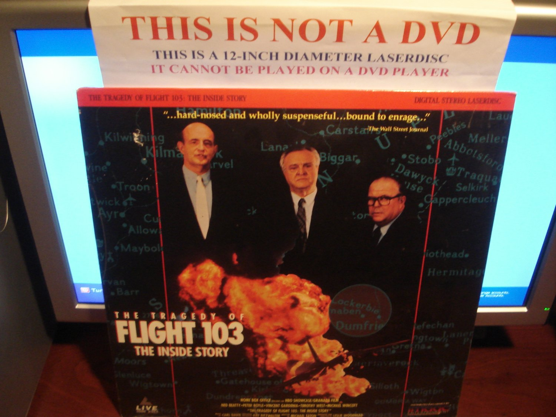 Laserdisc THE TRAGEDY OF FLIGHT 103: THE INSIDE STORY 1993 Ned Beatty FS SEALED UNOPENED LD