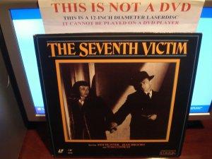 Laserdisc THE SEVENTH VICTIM (1943) RKO Kim Hunters Lot#1 FS Classic Horror LD