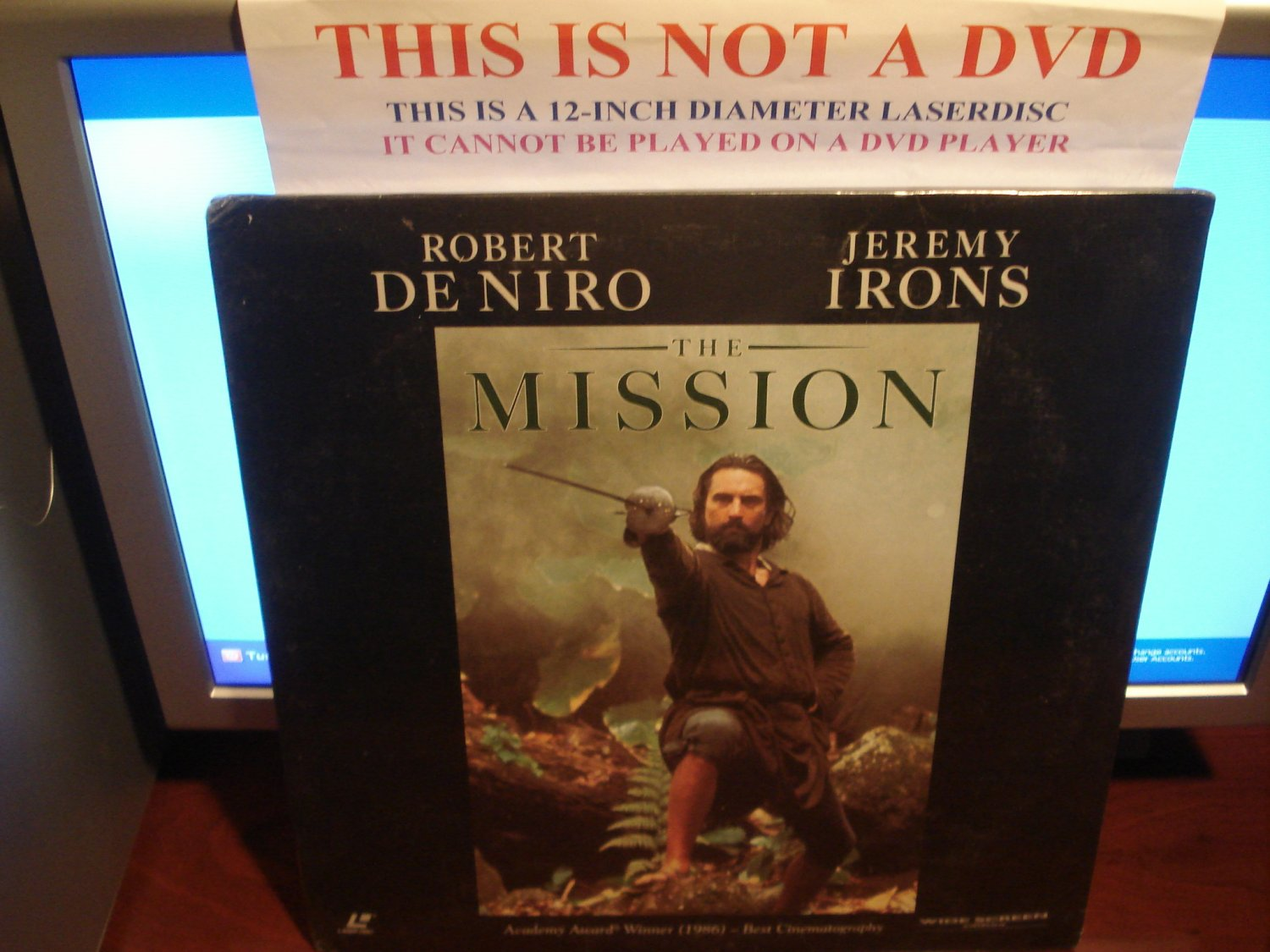 Laserdisc THE MISSION 1986 Robert DeNiro Lot#3 LTBX SEALED UNOPENED LD