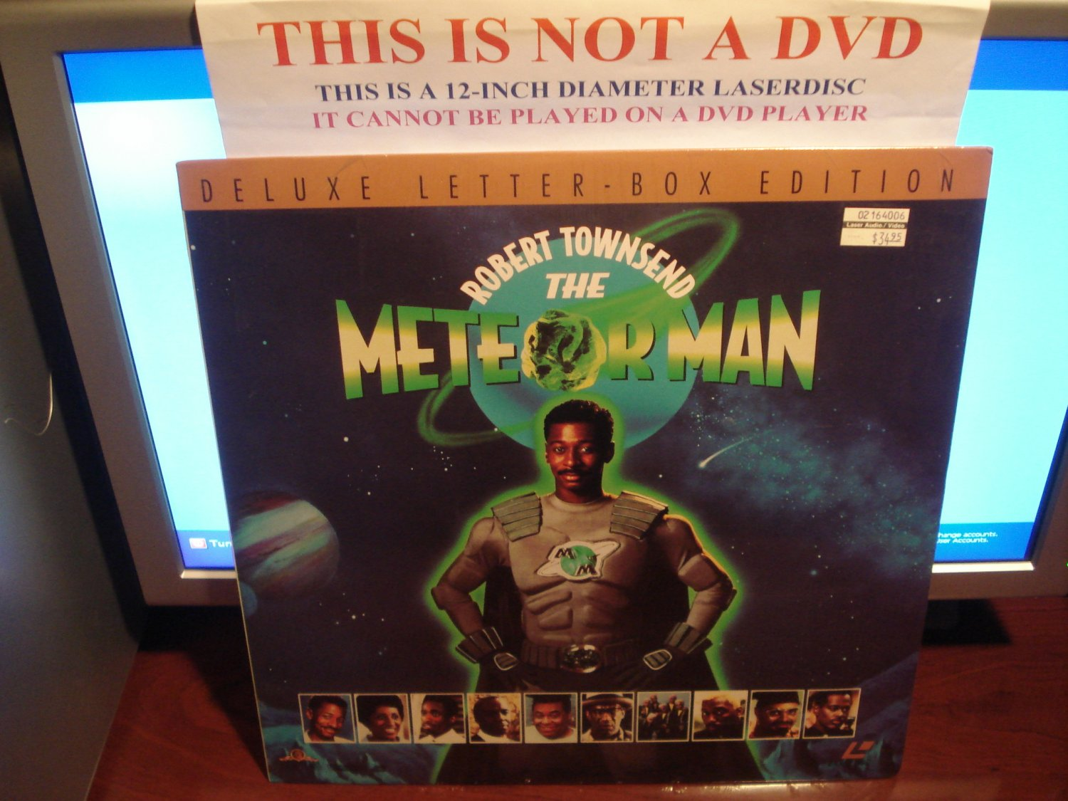 Laserdisc THE METEOR MAN 1993 Bill Cosby Lot#2 DLX LTBX SEALED UNOPENED Sci-Fi LD