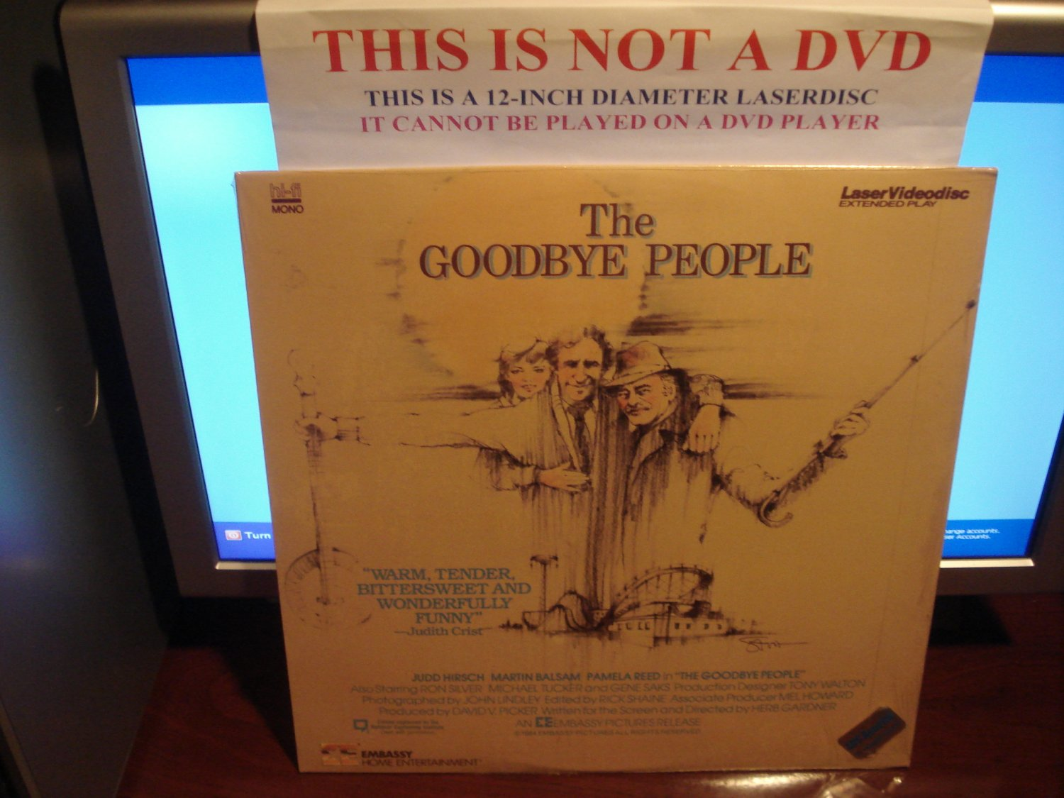 Laserdisc THE GOODBYE PEOPLE 1984 Judd Hirsch FS SEALED UNOPENED LD