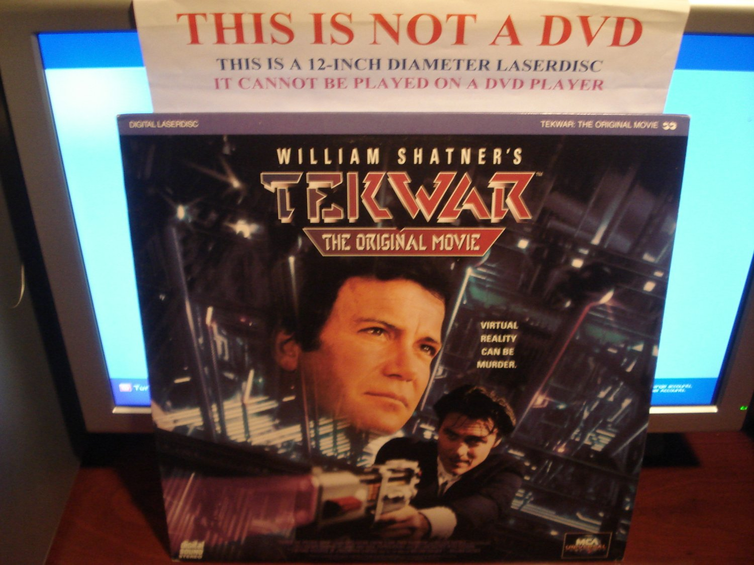 Laserdisc TEKWAR: THE ORIGINAL MOVIE 1993 William Shatner Lot#2 FS Rare Sci-Fi LD