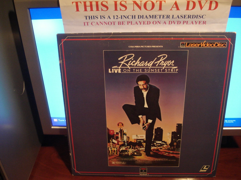 Laserdisc RICHARD PRYOR LIVE ON THE SUNSET STRIP 1982 Lot#2 FS Stand Up Comedy LD
