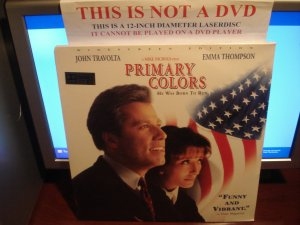 Laserdisc PRIMARY COLORS 1998 John Travolta Lot#2 LTBX AC-3 SEALED UNOPENED LD