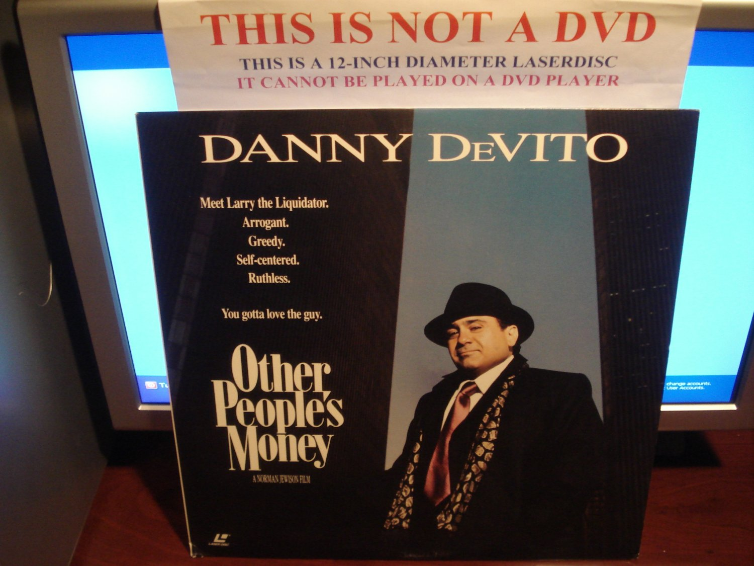 Laserdisc OTHER PEOPLE'S MONEY 1991 Danny DeVito Lot#2 LTBX LD
