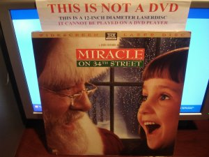 Laserdisc MIRACLE ON 34TH STREET (1947) Lot#3 LTBX SWE THX Classic B&W LD