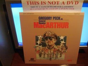 Laserdisc MacARTHUR (1977) Gregory Peck As General Douglas Lot#2 FS