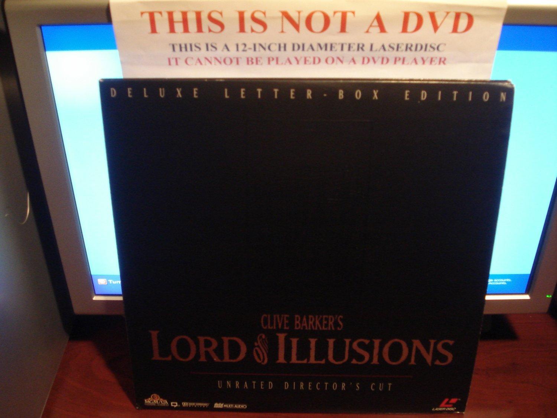 Laserdisc LORD OF ILLUSIONS 1995 Scott Bakula Lot#2 DLX LTBX Director's Cut LD Movie [ML105294]