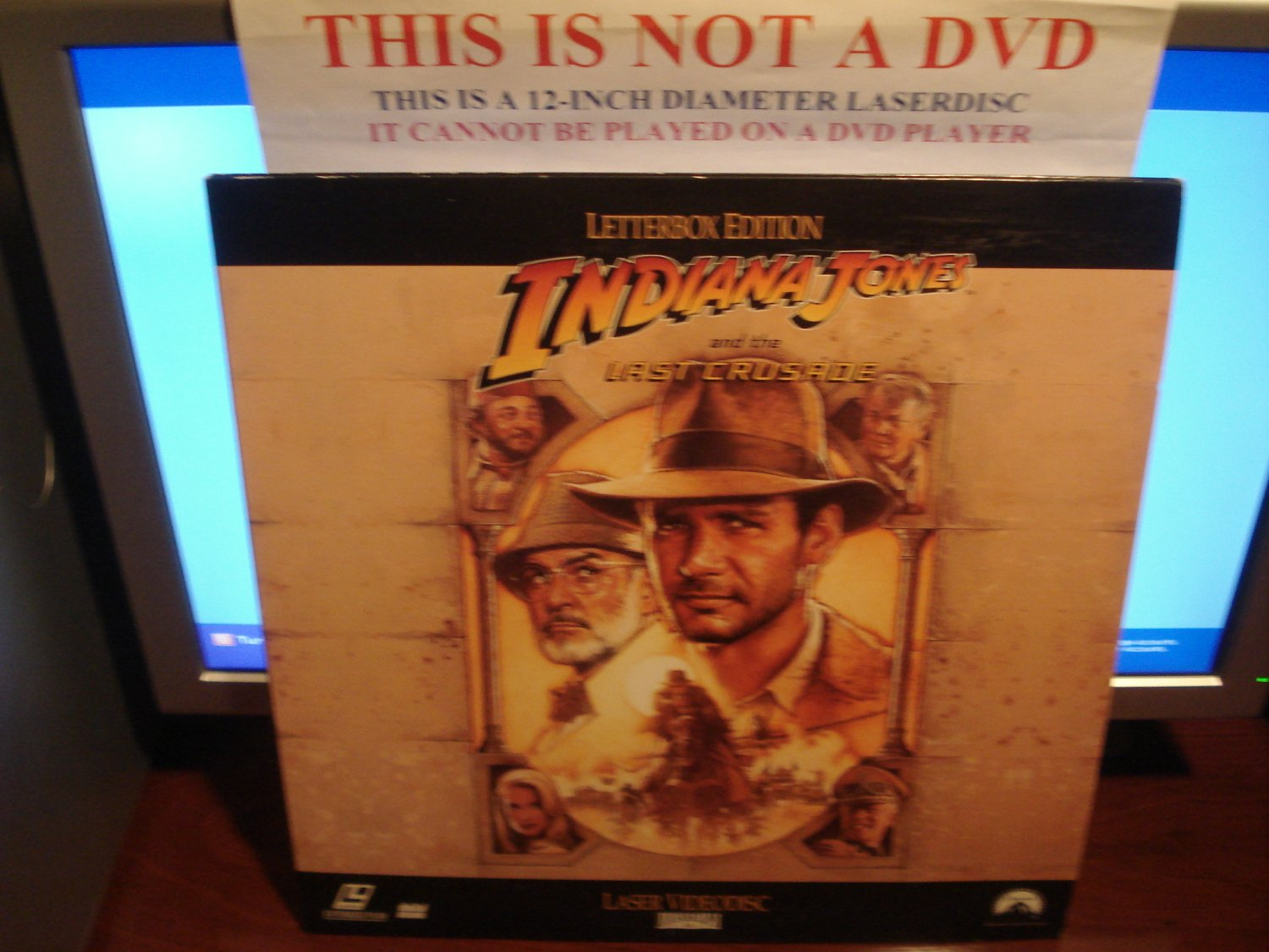 Laserdisc INDIANA JONES AND THE LAST CRUSADE 1989 Harrison Ford Lot#13 LTBX LD Movie [LV31859-2L]